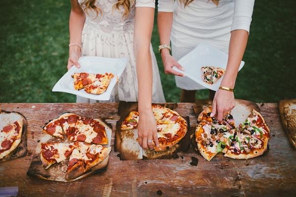 Pizza als huwelijksdiner