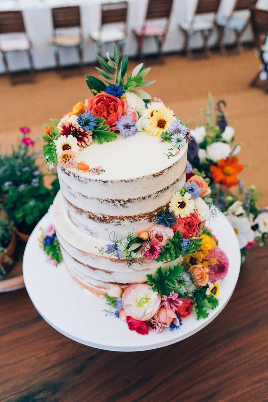 Naakte taart als bruidstaart