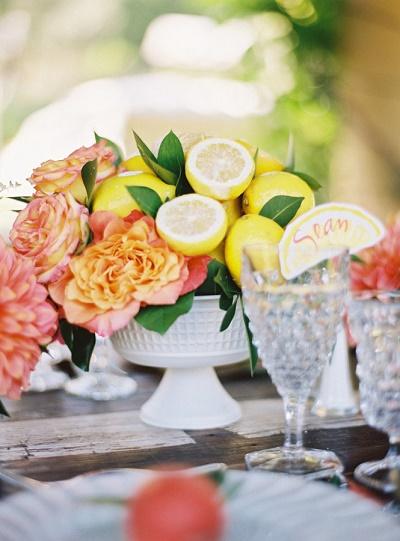 Citroen decoratie bruiloft