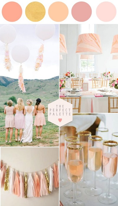 Kleurenthema pastel bruiloft