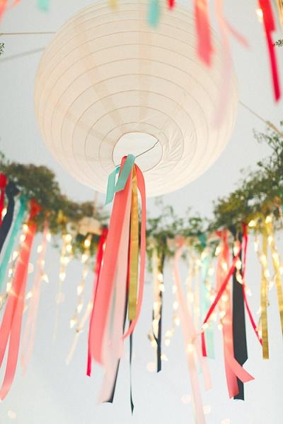 Lampionnen als styling op bruiloft