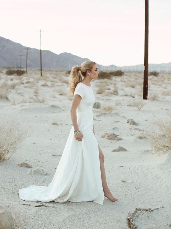 Bruid op het strand