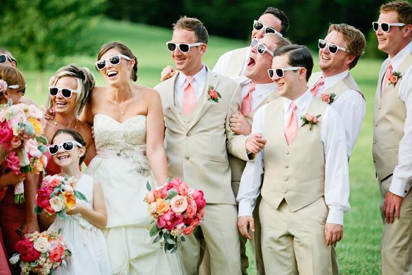 Zonnebrillen bruiloft