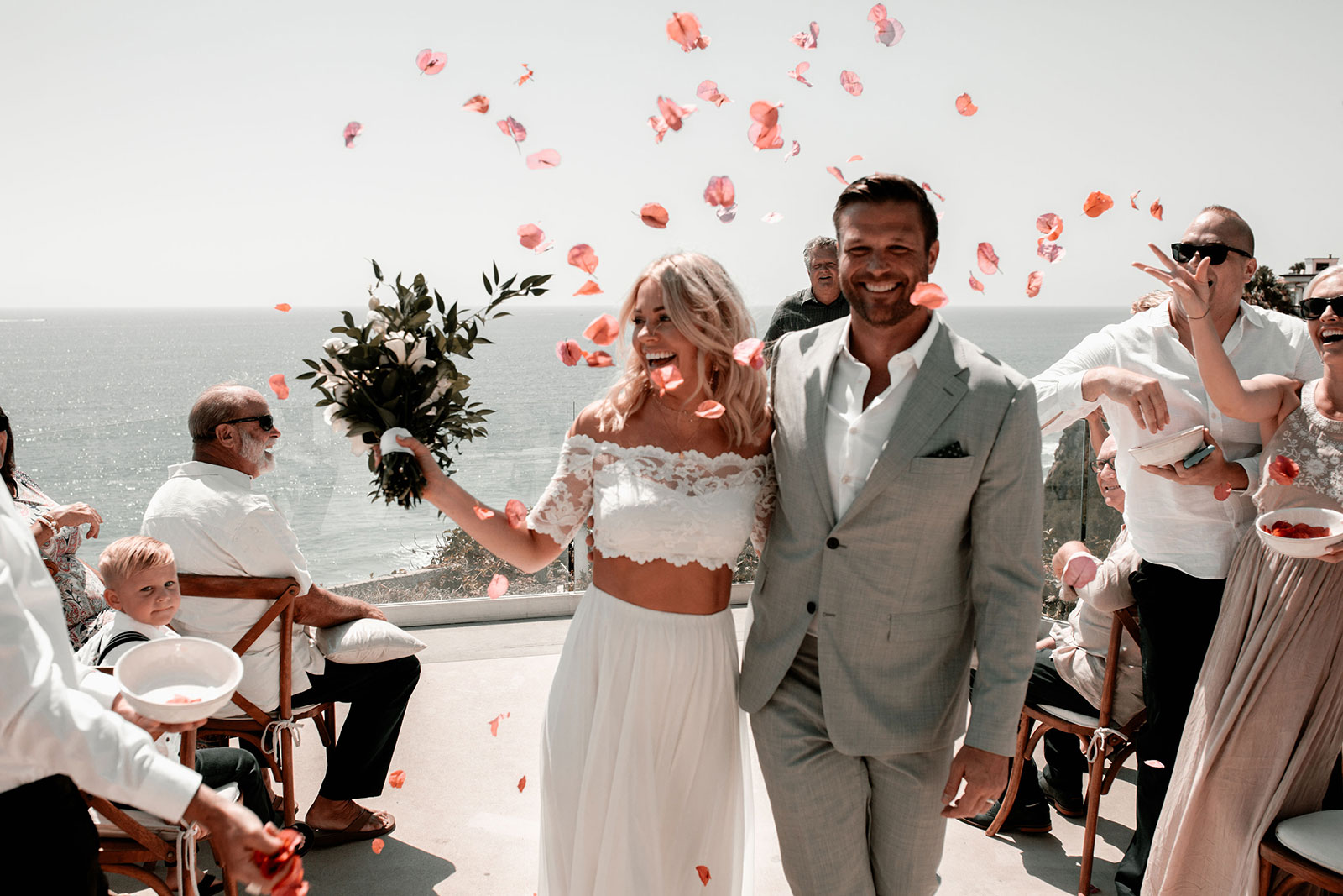 Bruidspaar na ceremonie