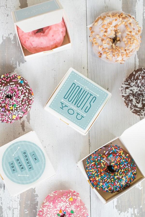 Donuts als bedankjes gasten