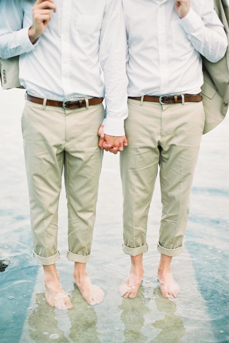 Homobruiloft met twee mannen