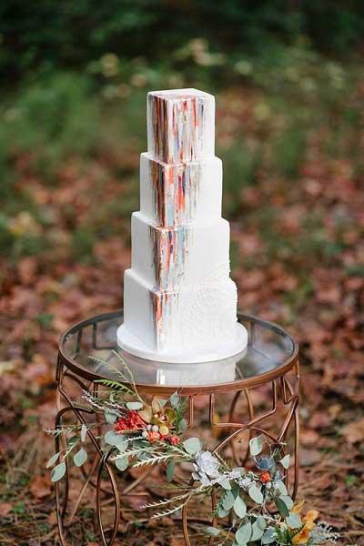 Beschilderde bruidstaarten