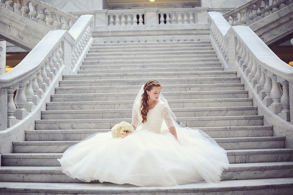 Bruid op de trap