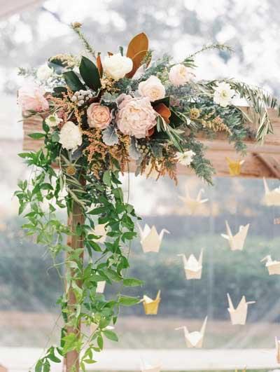 Witte kraanvogels bruiloft