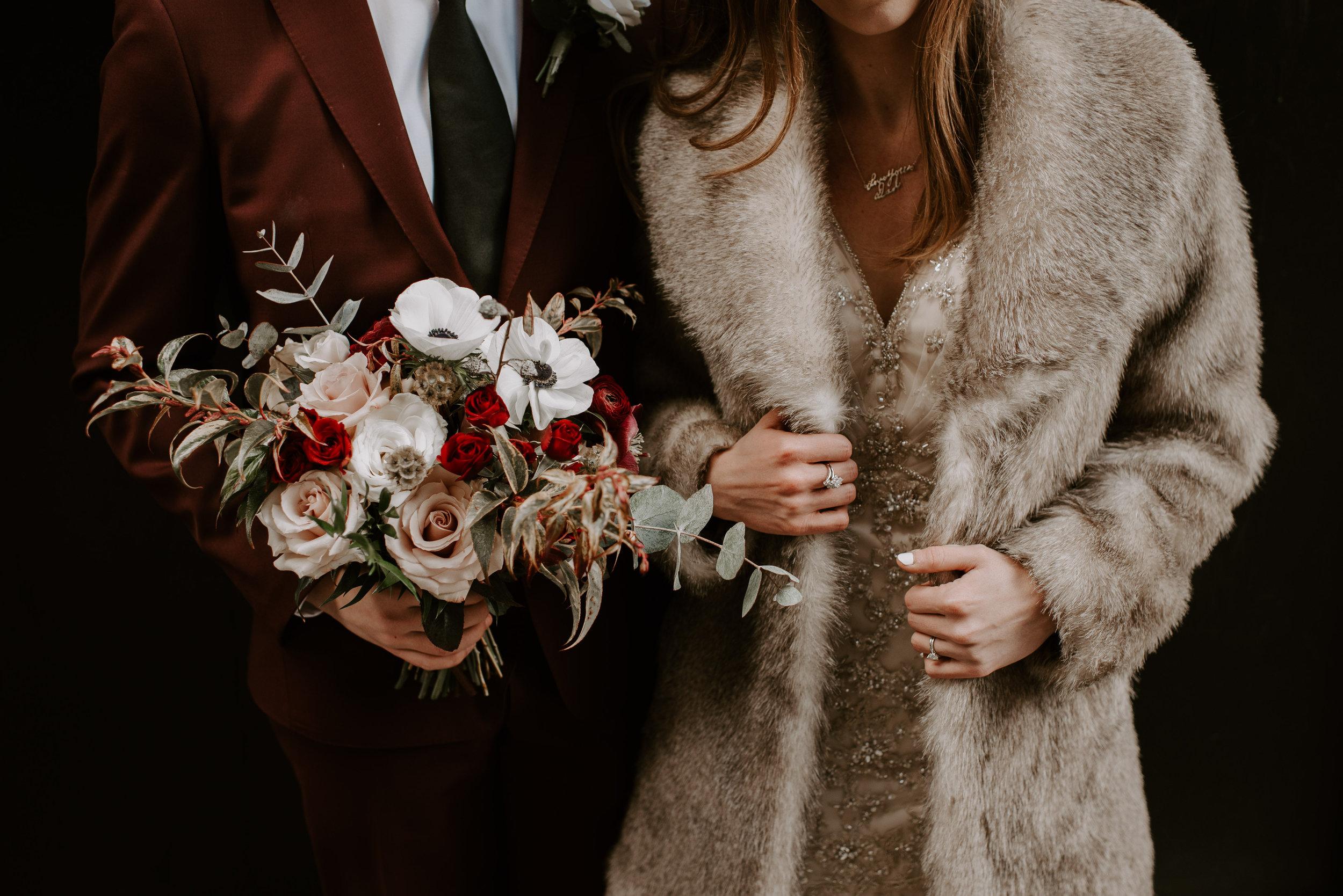 Bruid met bontjasje