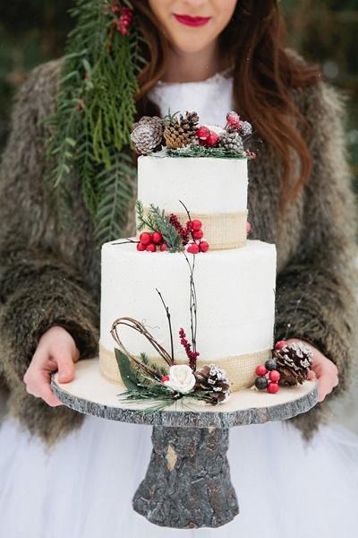 Kerst bruidstaart