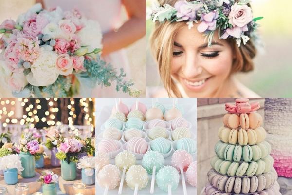 Pastelkleuren bruiloft