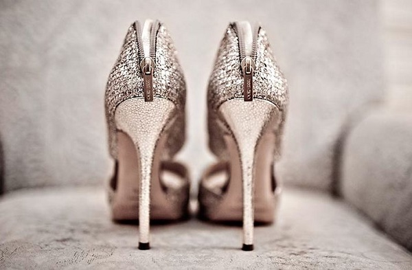 High heels bruiloft