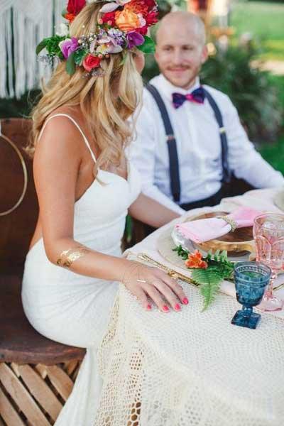Tijdelijke tatoeage bruid