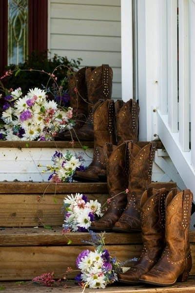 Cowboylaarzen bruiloft