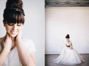 Bruid met hoge knot