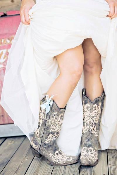 Cowboylaarzen als trouwschoenen