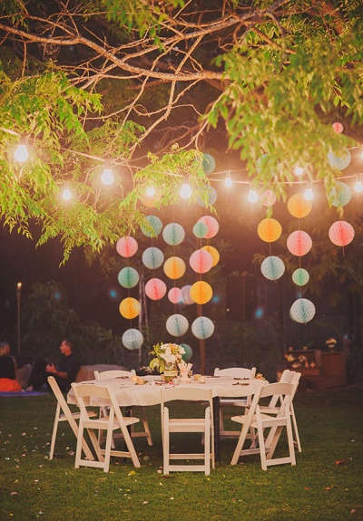 Festival bruiloft verlichting