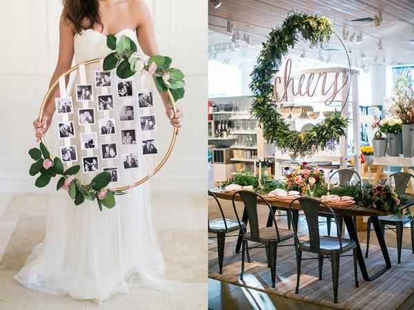 Hoepel bruiloft decoratie