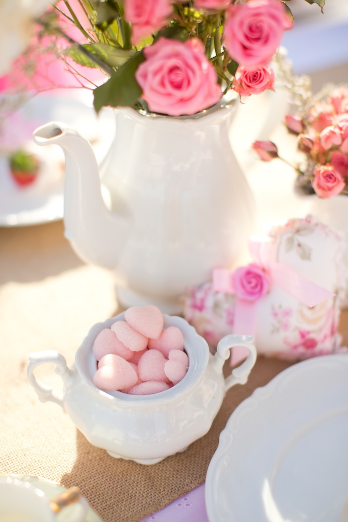 Roze hartjes suikerklontjes