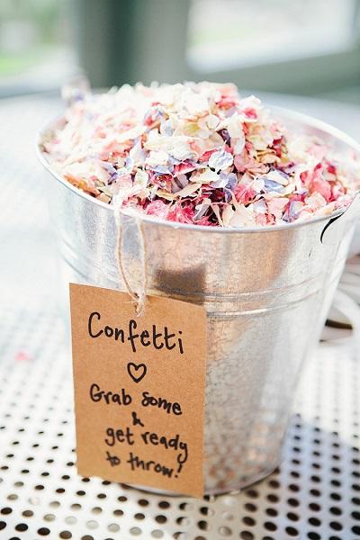 DIY bruiloft confetti