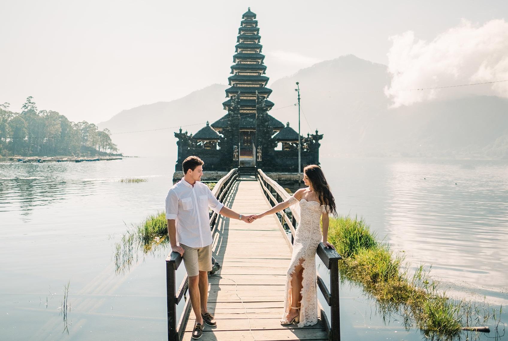 Bruidspaar op Bali