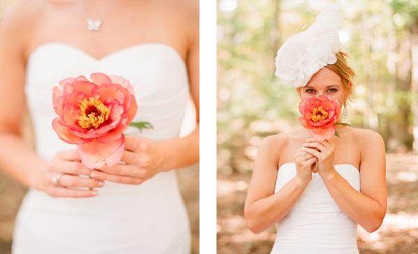 Bruid met een bloem