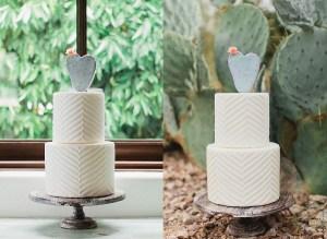 Bruidstaarten met cactus taarttopper