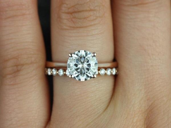 Setje trouwring en verlovingsring