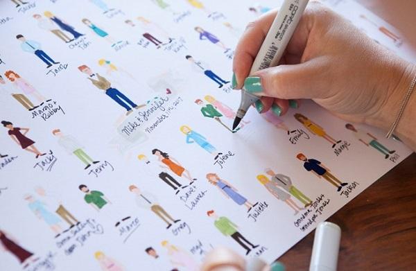 Bedwelming 7 Ideeën voor een origineel gastenboek   Bruiloft Inspiratie &BU27