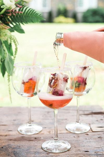Cocktail ijsjes bruiloft