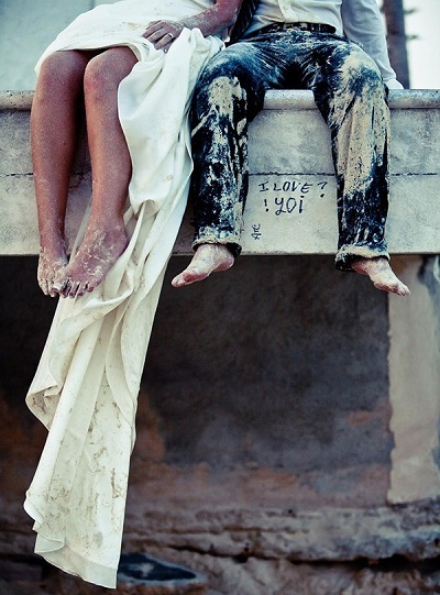 Trash the dress zand