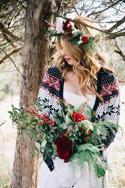 Bruid met vestje