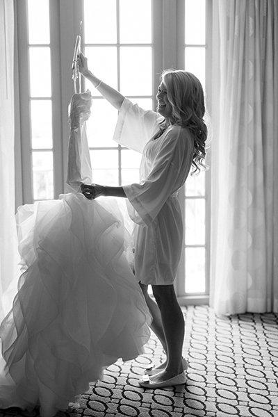 Bruid met trouwjurk