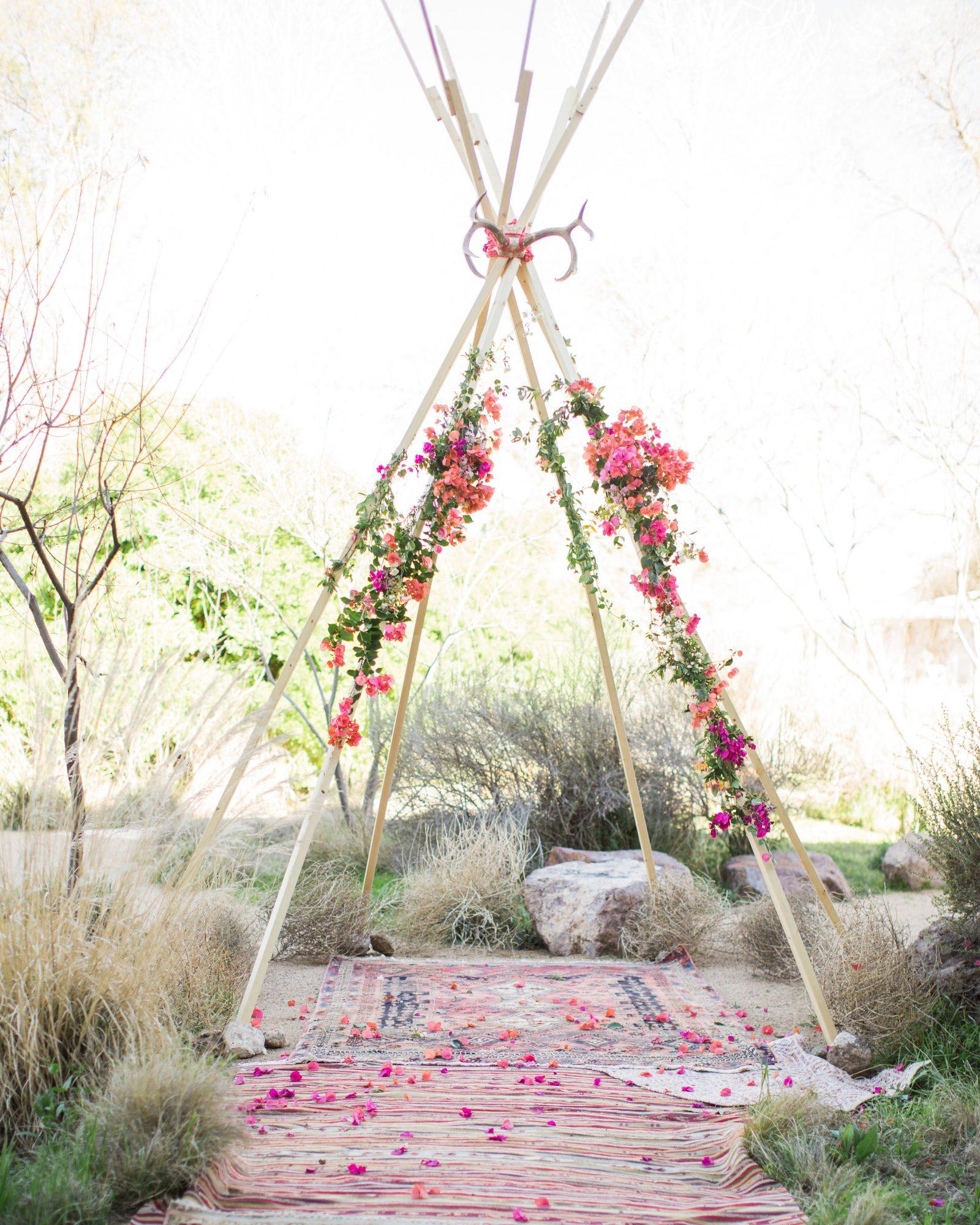 Boho bruiloft decoratie tipi tent
