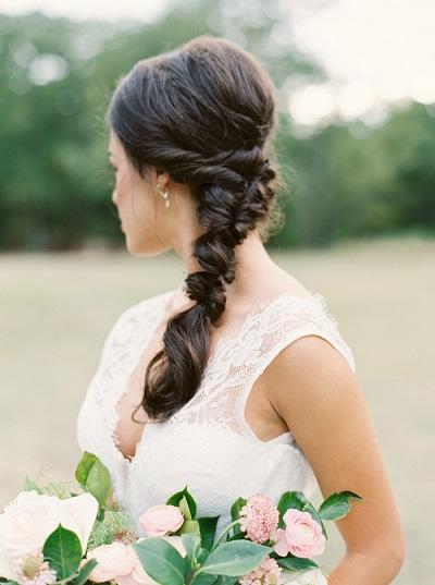 Vlecht als bruidskapsel