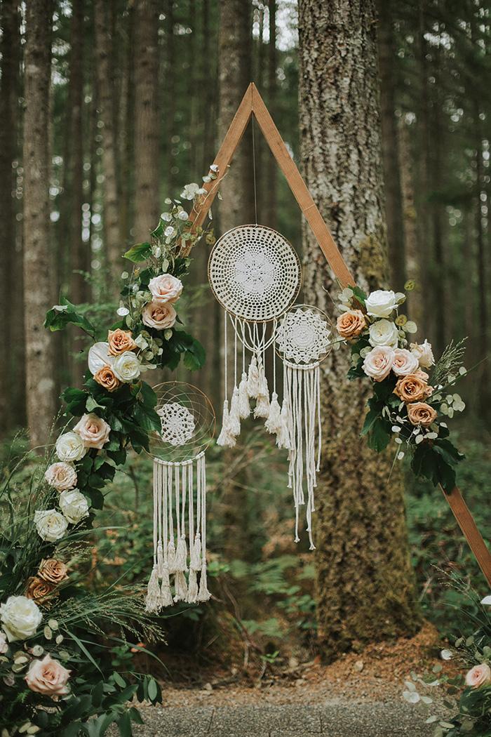Dromenvanger decoratie op bruiloft