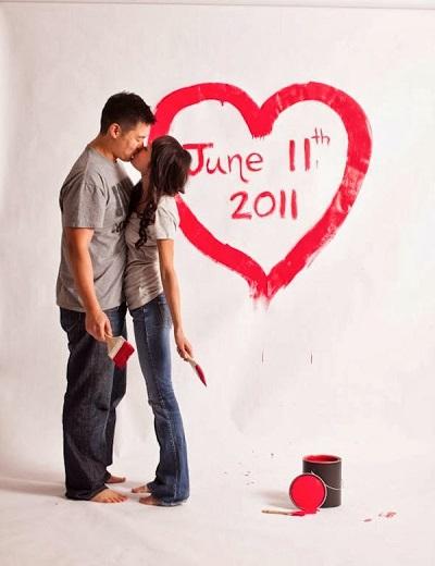 Save the date met verf