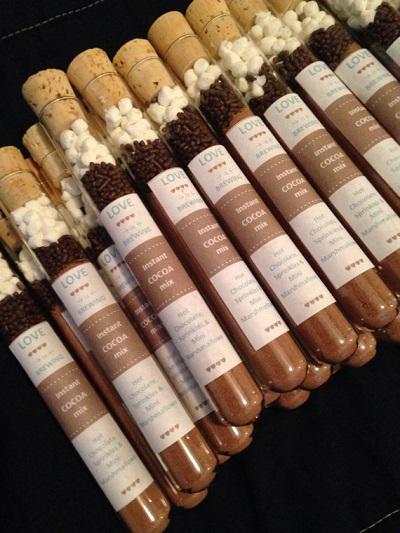 Chocolademelk huwelijksbedankjes