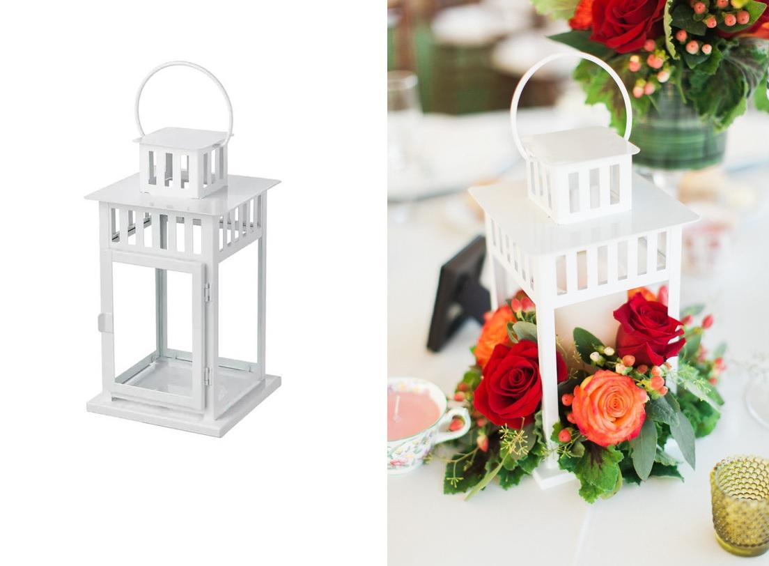 IKEA lantaarn als bruiloft decoratie