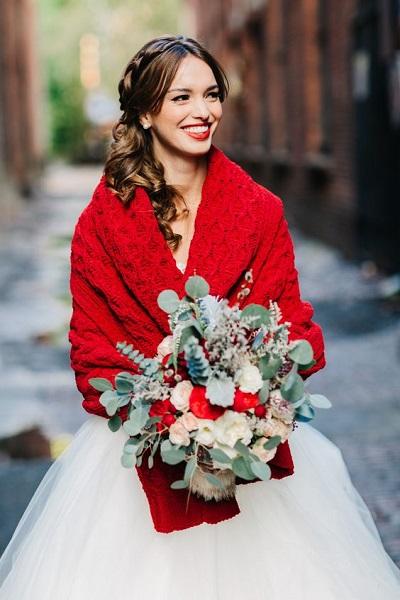 Winterbruiloft inspiratie bruid