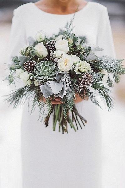 Winter bruiloft bruidsboeket