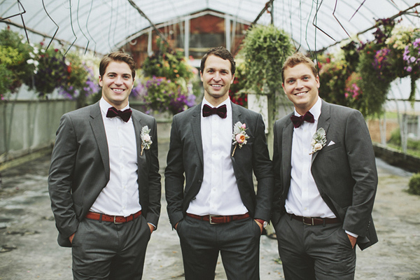 Bruidegom met vrienden