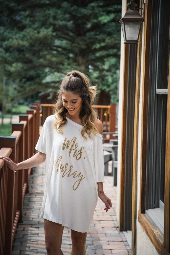 Bruid op de ochtend van haar bruiloft