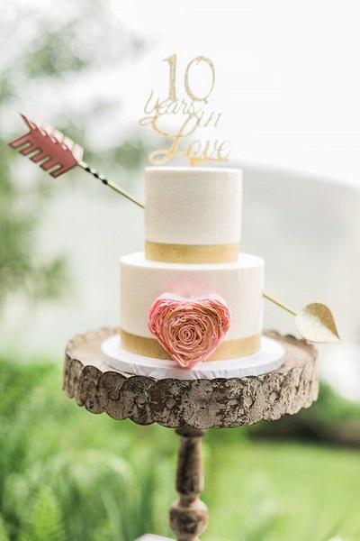 Bruidstaart geloften hernieuwen