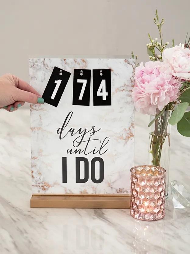 Aftelkalender voor de bruiloft