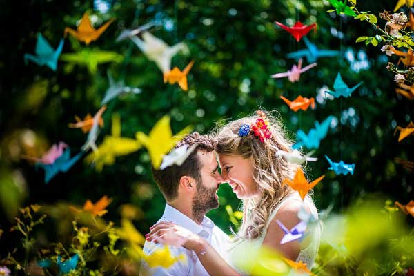 Kraanvogels op bruiloft