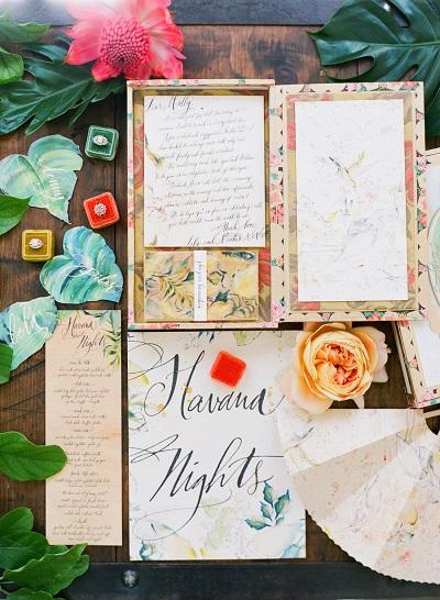 Cubaanse bruiloft uitnodigingen