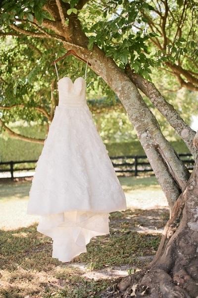 Trouwfoto´s met de jurk