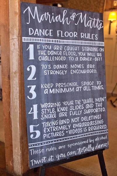 Regels voor de dansvloer